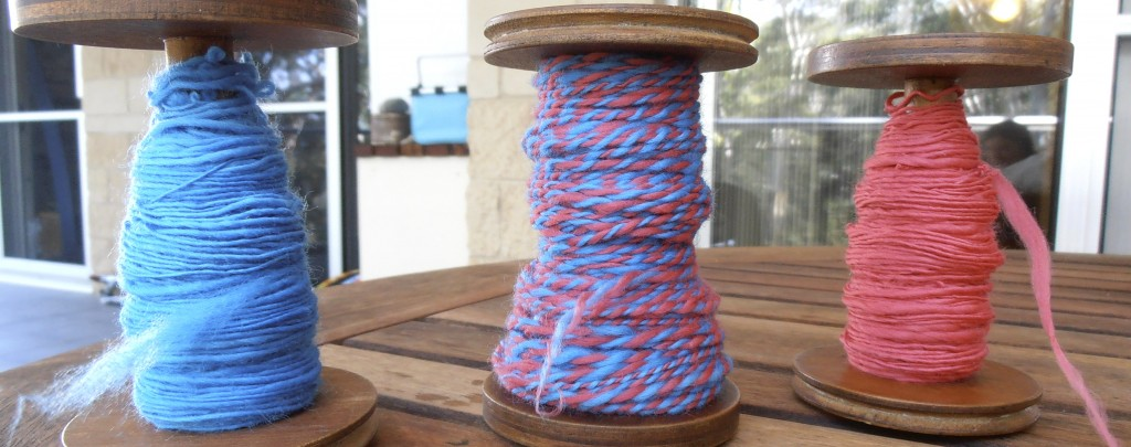 Bobbins of handspun