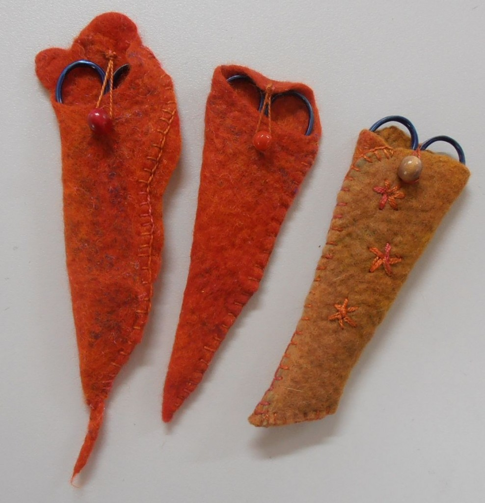 Felted scissor covers