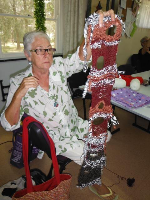 Jenni's freeform knitting