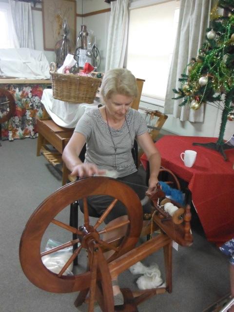 Julie spinning