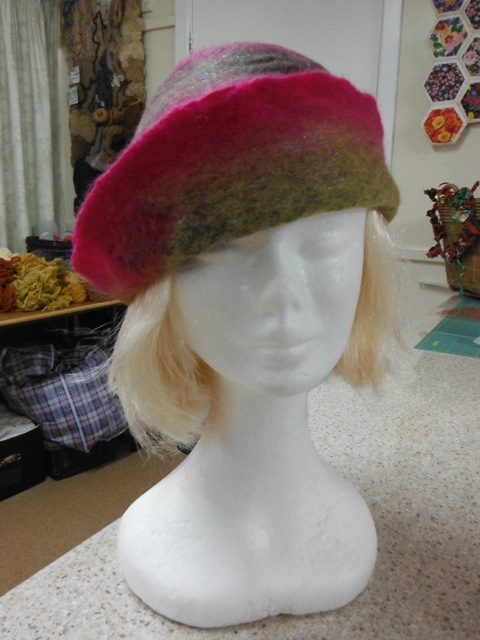 Lyn's felted hat