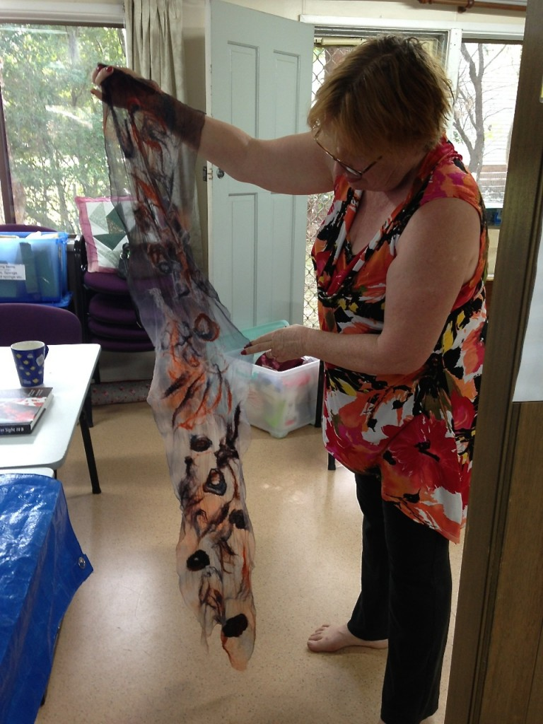 Louise's nuno felted scarf