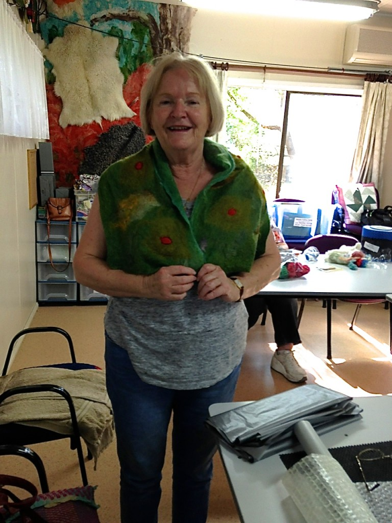 Sandra's felted scarf
