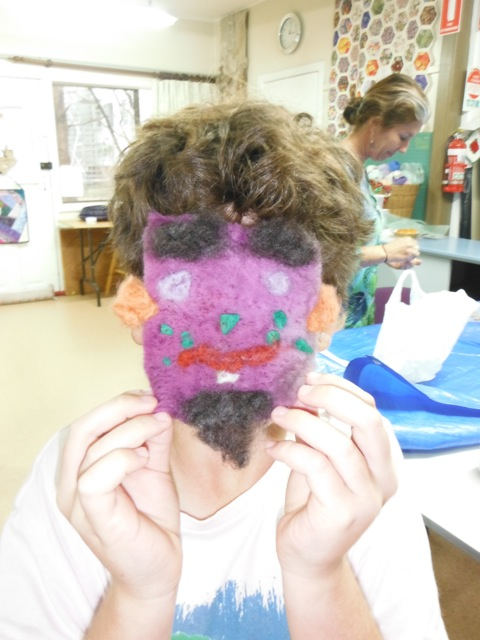 Needle felted face