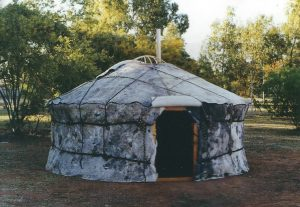 finished yurt