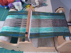 Lesley's weaving